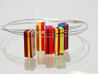 'Glow' Pendants. Silver and Plexiglas