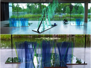 Flat Pack or Floating Nympheas, (Water Lilies) and Weeping and Willows'. 2010/11